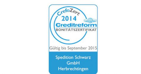 Creditreform: Spedition Schwarz mit Top-Rating
